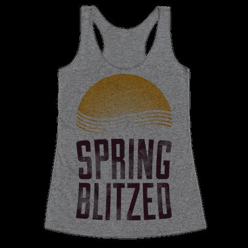 Spring Blitzed Racerback Tank Top