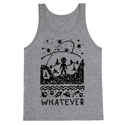 Whatever Alien Ugly Christmas Sweater Tank Top