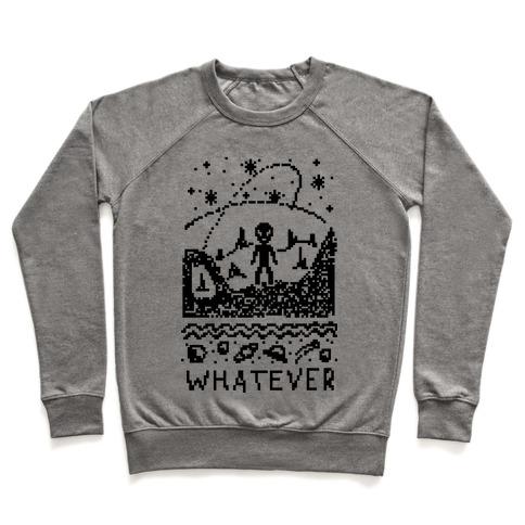 aaddd44ac813 Whatever Alien Ugly Christmas Sweater Crewneck Sweatshirt ...