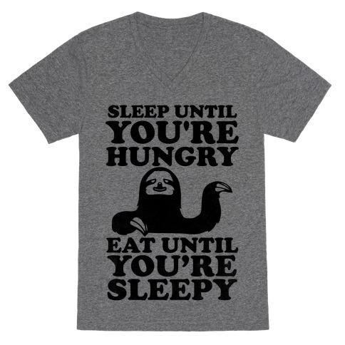 Sleep Till You're Hungry V-Neck Tee Shirt