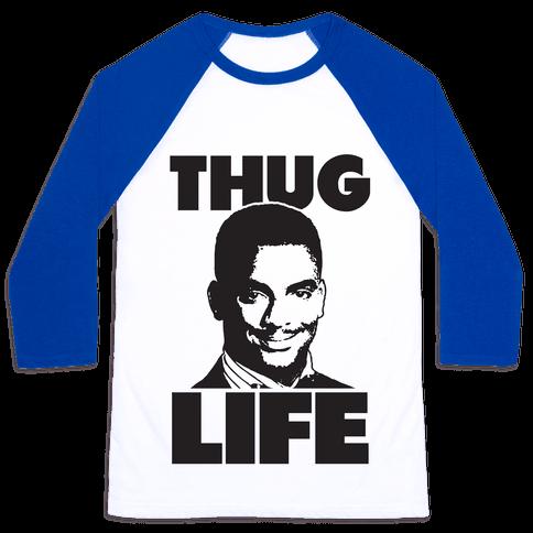 Thug Life Carlton Baseball Tee