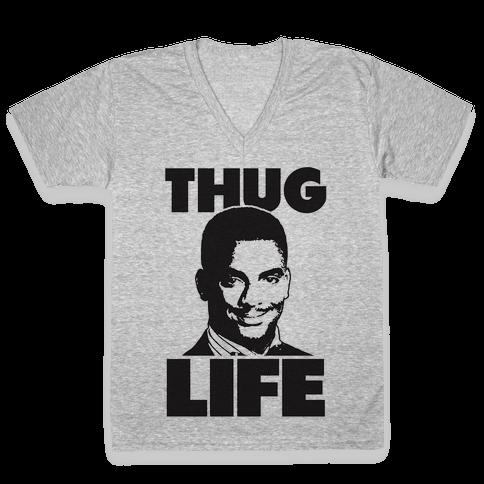 Thug Life Carlton V-Neck Tee Shirt