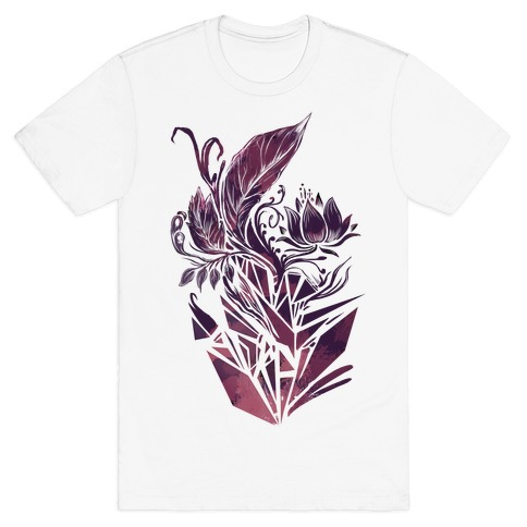 Leaves in Geometry Mens T-Shirt