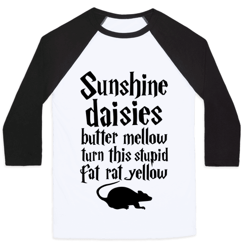 Sunshine, Daisies, Butter Mellow Baseball Tee