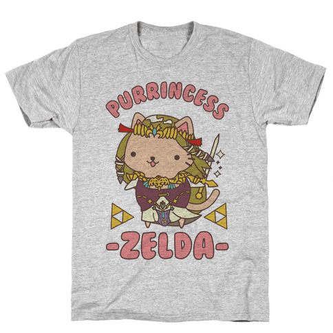 Purrincess Zelda Mens T-Shirt