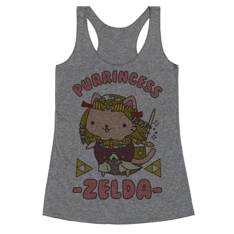 Purrincess Zelda Racerback Tank Top