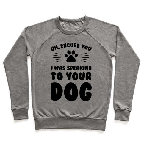 Uh, Excuse You I was Speaking To Your Dog Pullover