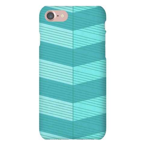 Stripes on Stripes Pattern (Blue) Phone Case