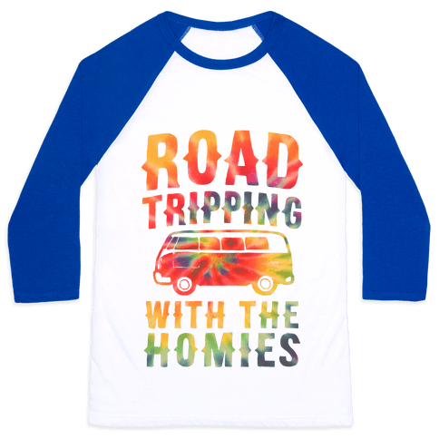 Road Tripping With the Homies Baseball Tee