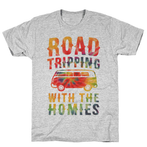Road Tripping With the Homies Mens T-Shirt