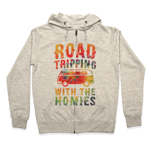 Road Tripping With the Homies Zip Hoodie