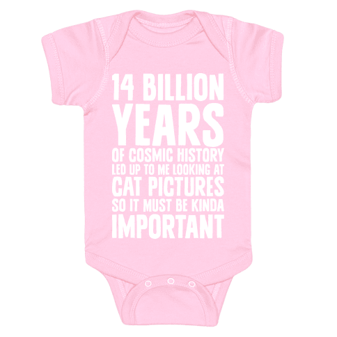 14 Billion Years of Cosmic History Baby Onesy