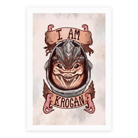 I am KROGAN! (Grunt) Poster