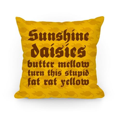 Sunshine, Daisies, Butter Mellow Pillow