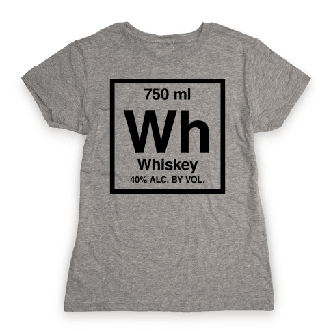 Whiskey Element (Periodic Alcohol) Womens T-Shirt