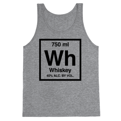 Whiskey Element (Periodic Alcohol) Tank Top