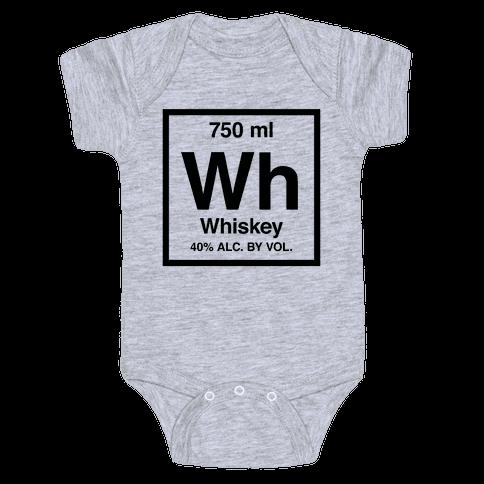 Whiskey Element (Periodic Alcohol) Baby Onesy