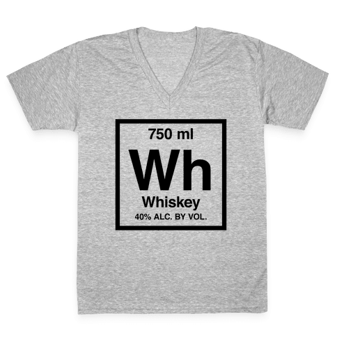 Whiskey Element (Periodic Alcohol) V-Neck Tee Shirt