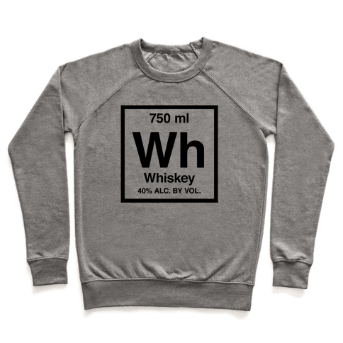 Whiskey Element (Periodic Alcohol) Pullover