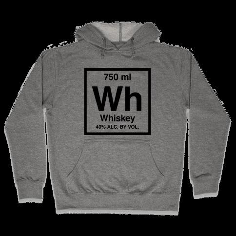 Whiskey Element (Periodic Alcohol) Hooded Sweatshirt