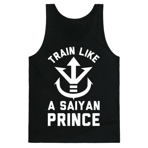 Train Like A Saiyan Prince Tank Top