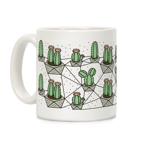 Cactus Geometric Pattern Coffee Mug