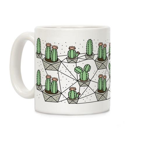 Cactus Geometric Pattern Coffee Mug