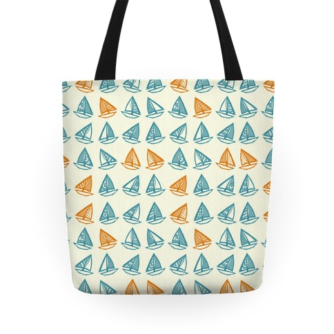 Little Sailboats Pattern Tote