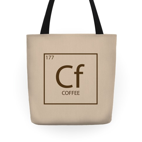 Coffee Periodic Element Tote