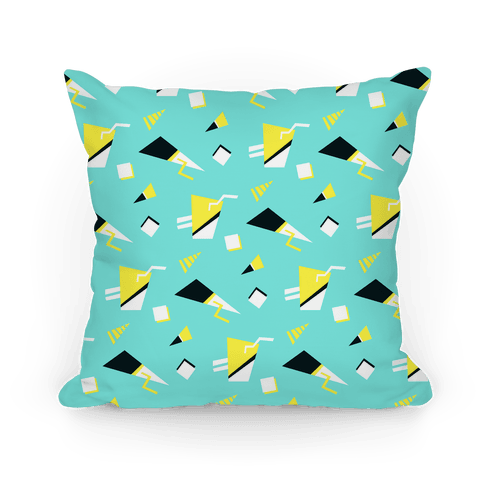 Teal 80s/90s Pattern