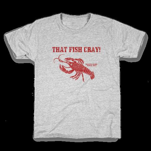 That Fish Cray! - Vintage Kids T-Shirt