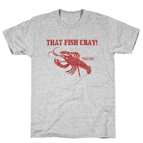 That Fish Cray! - Vintage Mens T-Shirt