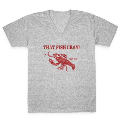 That Fish Cray! - Vintage V-Neck Tee Shirt
