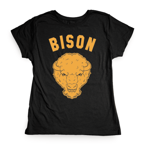Bison Gold Womens T-Shirt