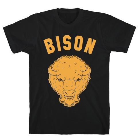 Bison Gold Mens T-Shirt