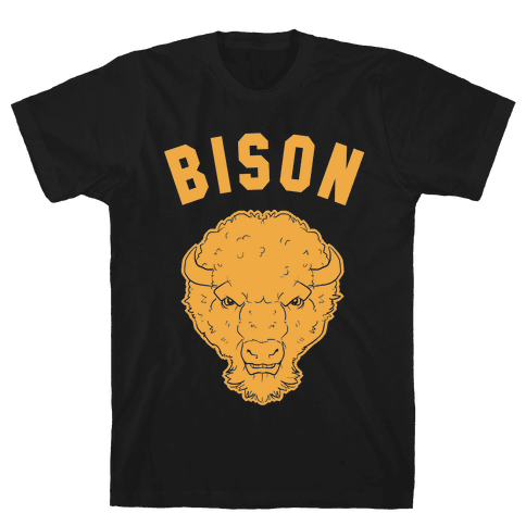 Bison Gold Mens T-Shirt