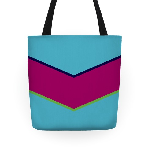 Multicolor Chevron Stripe Tote Tote