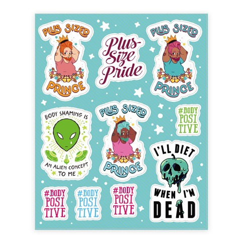 Body Positive Prince  Sticker/Decal Sheet