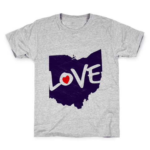 Love Ohio Kids T-Shirt