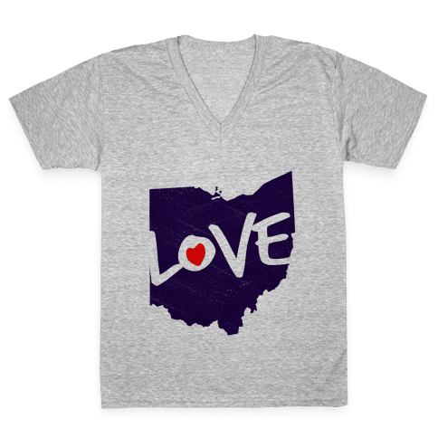 Love Ohio V-Neck Tee Shirt