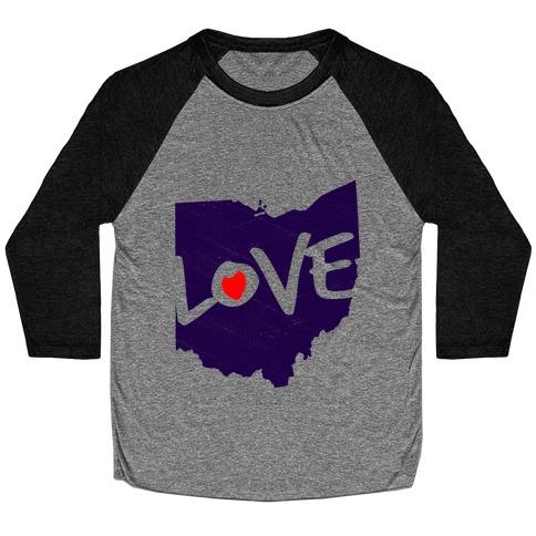 Love Ohio Baseball Tee