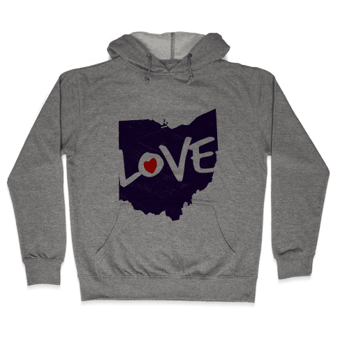 Love Ohio Hooded Sweatshirt