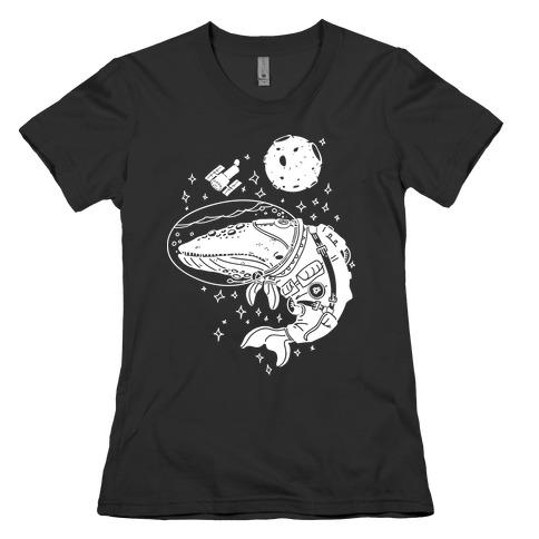 Space Whale Womens T-Shirt