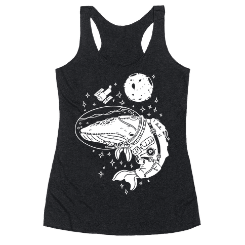 Space Whale  Racerback Tank Top