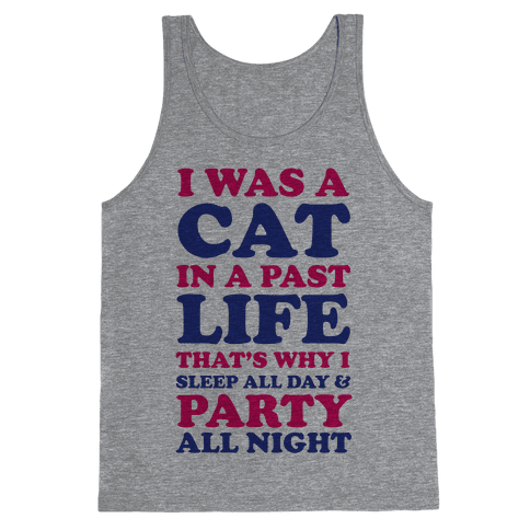 I Was a Cat in a Past Life That's Why I Sleep All Day Tank Top