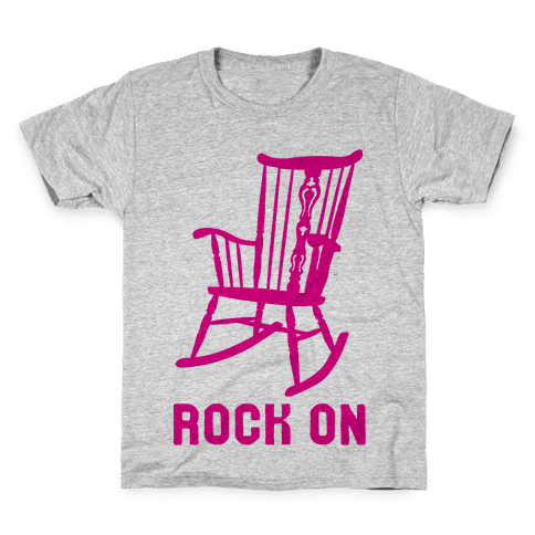 Rock On Rocking Chair Kids T-Shirt