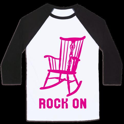 Rock On Rocking Chair Baseball Tee