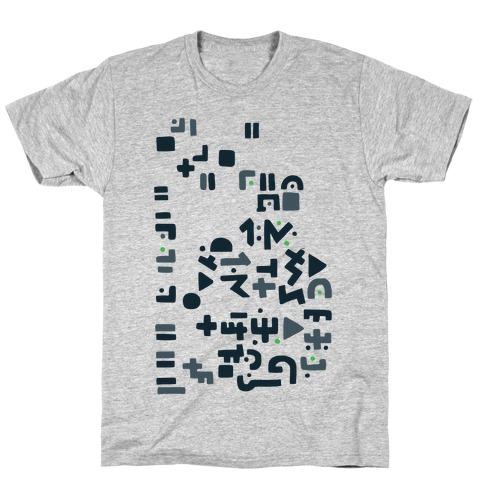 Alien Writing T-Shirt