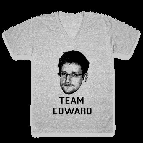 Team Edward V-Neck Tee Shirt