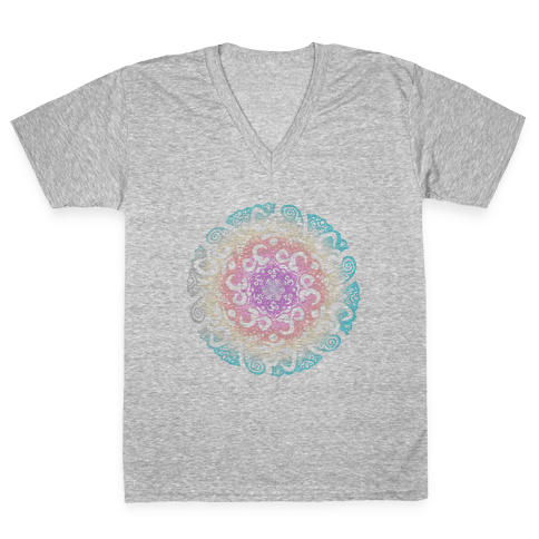 Namaste Mandala V-Neck Tee Shirt